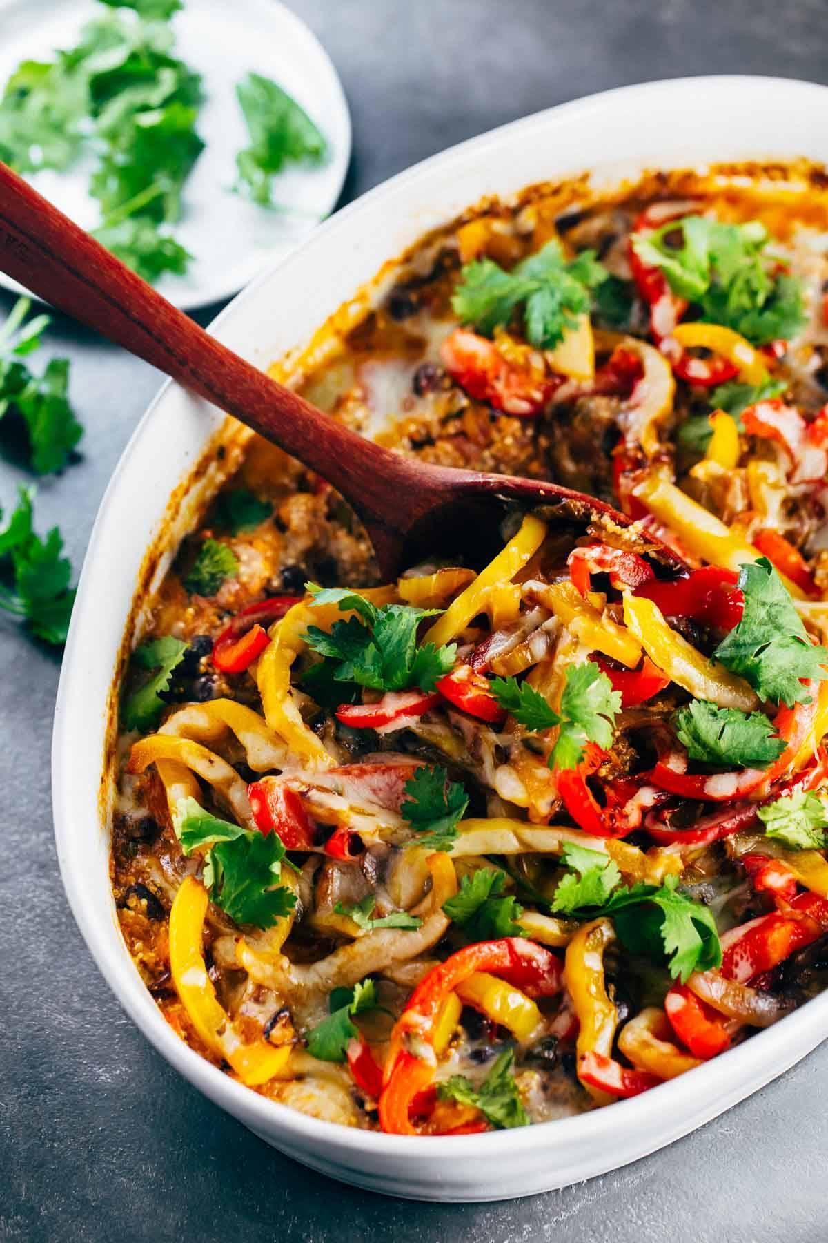 Easy Mexican Chicken Quinoa Casserole Recipe Pinch Of Yum