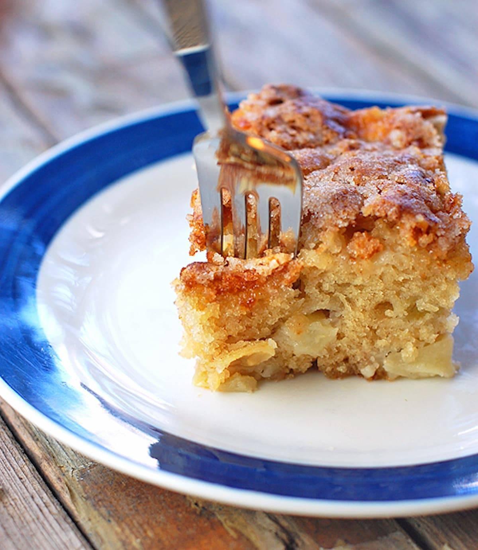 Cinnamon Sugar Apple Cake Recipe Pinch Of Yum