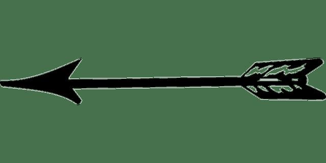 Feathered Arrow Clip Art Transparent