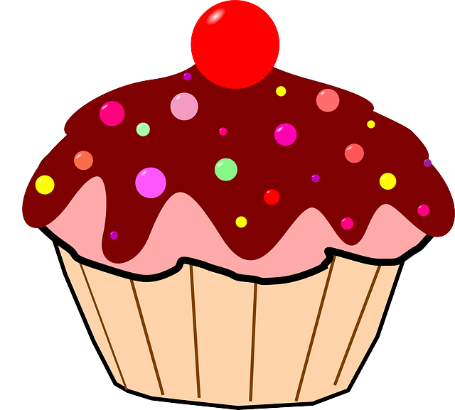 Cupcake Chocolate Icing Smarties 183 Free Vector Graphic On