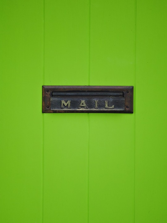 Blue Commercial Mailbox