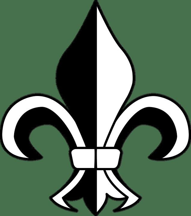 Saints Fleur De Lis Svg