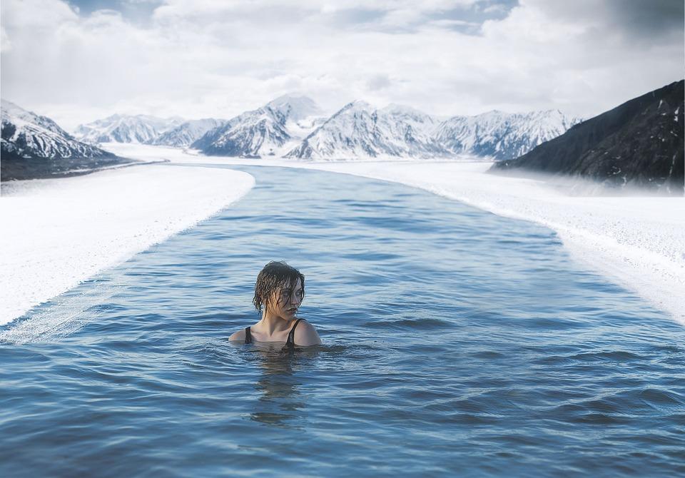 Frozen Lake Snow