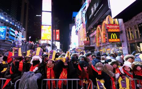 In frigid Times Square  relief arrives with the new year A general view of atmosphere during New Year s Eve 2018 in Times Square on  31 December
