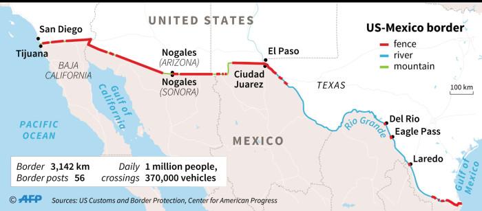 Border California Mexico Map