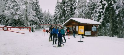 first weekend of cross-country snowboarding in Isère