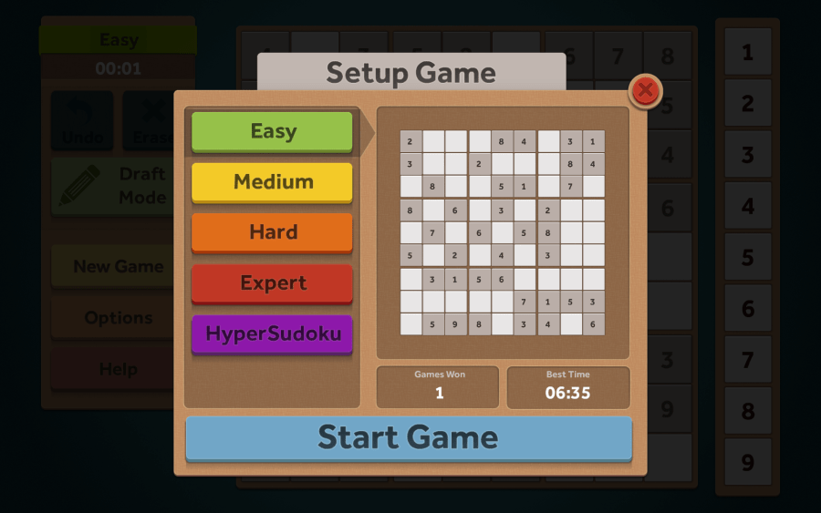 Random Salad Games      Simple Sudoku Gameplay images