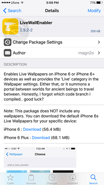 Enable iPhone 6s / 6s Plus Live Wallpapers On iPhone 6 / 6 ...