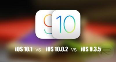 iOS 10.1 Vs iOS 10.0.2 Vs iOS 9.3.5 [Speed And Performance ...