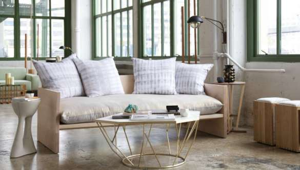A Modern Daybed Sofa  Hand Dyed Shibori Included   Remodelista Above  The Maple Sofa is handmade to order in Brooklyn  allow two to four  weeks for delivery    6 000 through WorkOf