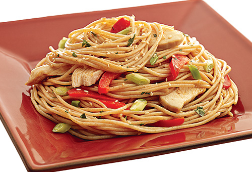Red And Green Spaghetti Noodles Box
