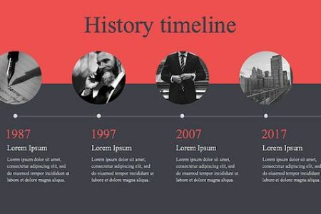 25  Free Timeline Templates In PPT  Word  Excel  PSD Modern history timeline template