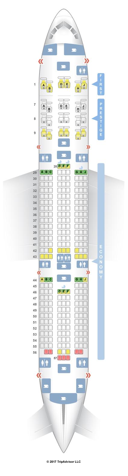 Seating 800 A380 Korean Air Chart