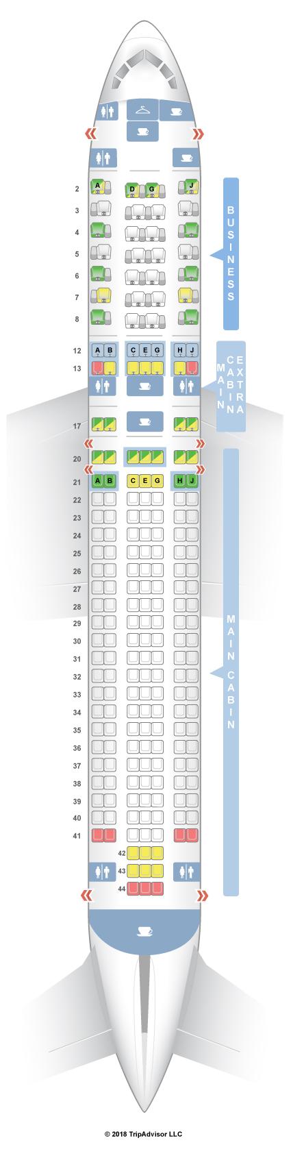 Seatguru Seat Map American Airlines Boeing 767 300 763