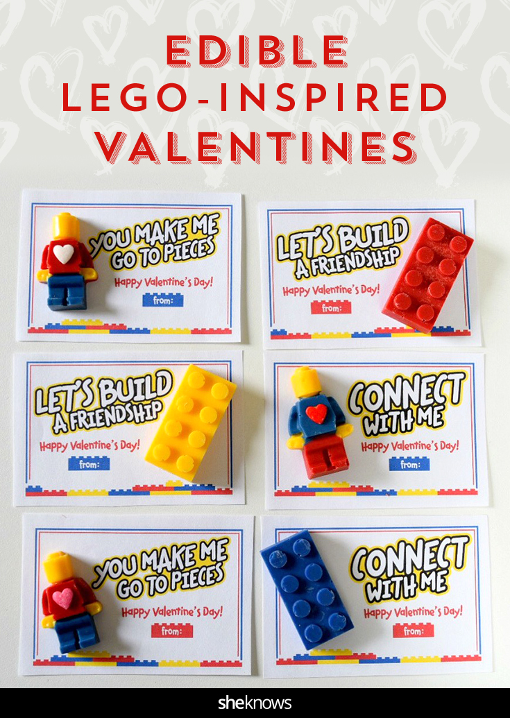 Lego Inspired Valentine S Day Cards And Candies For Your