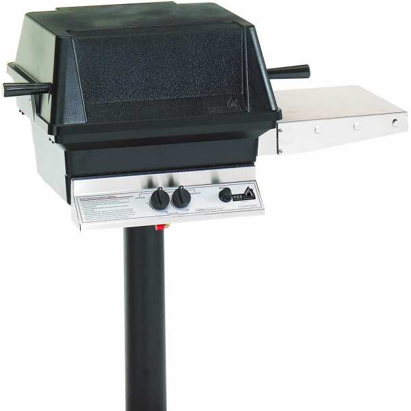 PGS A40 Cast Aluminum Propane Gas Grill On In Ground Post   BBQ Guys PGS A40 Cast Aluminum Propane Gas Grill On In Ground Post
