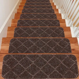 Seloom Non Slip Washable Stair Treads Carpet With Skid Resistant Rubbe   Washable Carpet Stair Treads   Removable Washable   Machine Washable   Rubber Backing   Slip Resistant   Self Adhesive