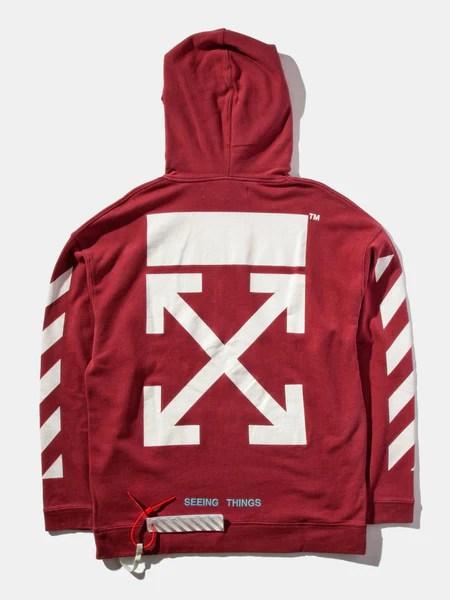 Buy Off White Diag Arrows Hooded Sweatshirt Online At