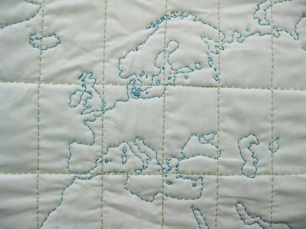 Diy Map Quilting Kit Of The World Haptic Lab