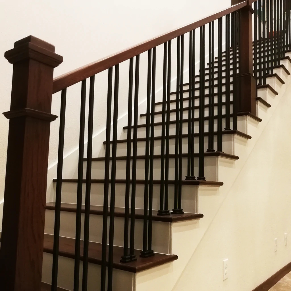 Plain Square Bar Wrought Iron Baluster Affordable Stair Parts   Iron Balusters For Sale   Double Basket   Rustic   Square   Indoor   Cast Iron