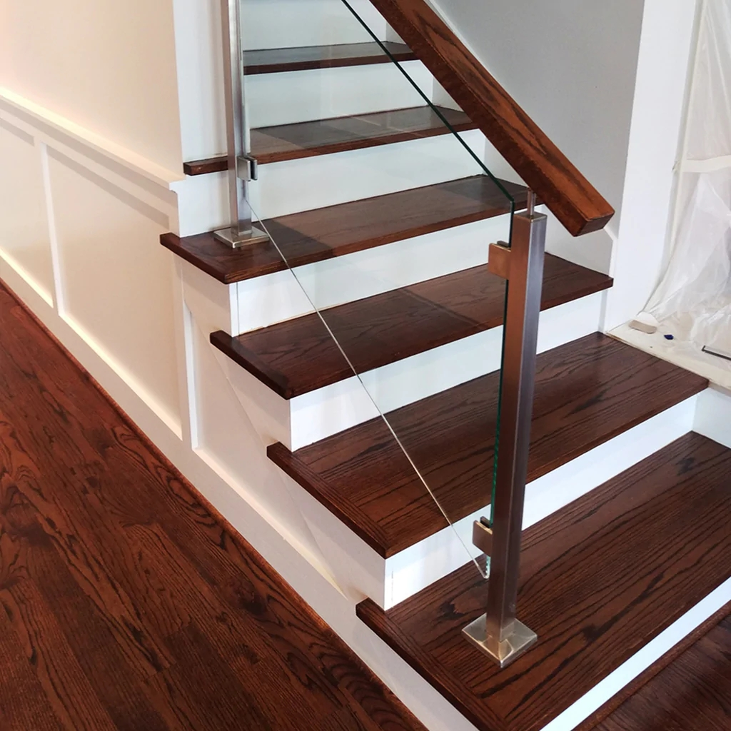 Engineered Paint Grade Mdf Stair Riser Affordable Stair Parts   Stairs Covered In Wood   Simple   Wood Paneling   Glass   Rustic   White