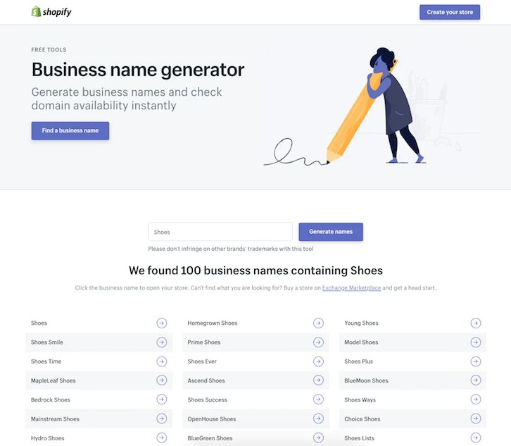 free catchy business names generator # 2