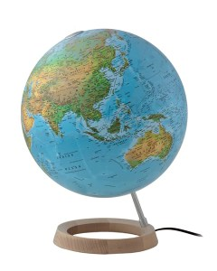 World Globes with Free Shipping Australia wide   Mapworld Full Circle FC2 Physical Atmosphere Illuminated 30cm Globe