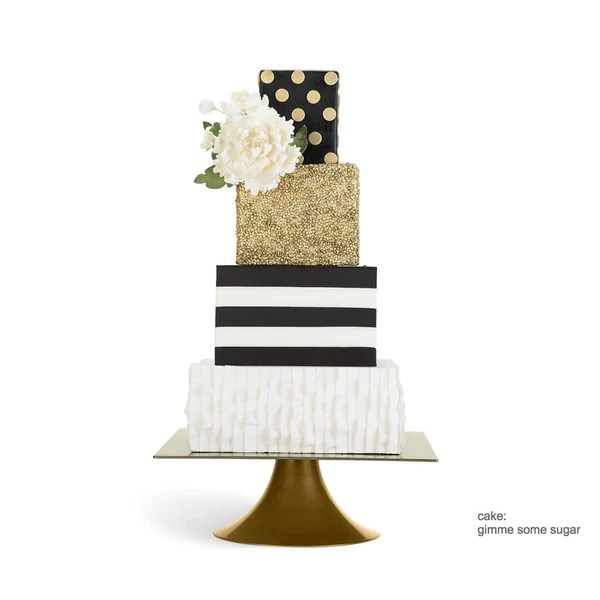 Square Gold 10 inch   14 inch Wedding Cake Stands   Sarah s Stands