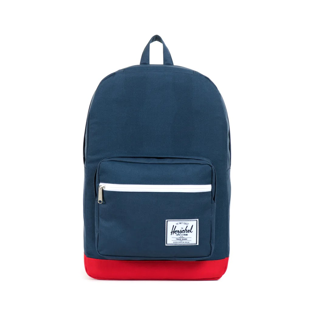 Herschel Supply Pop Quiz Backpack - Navy & Red :: Maxton Men
