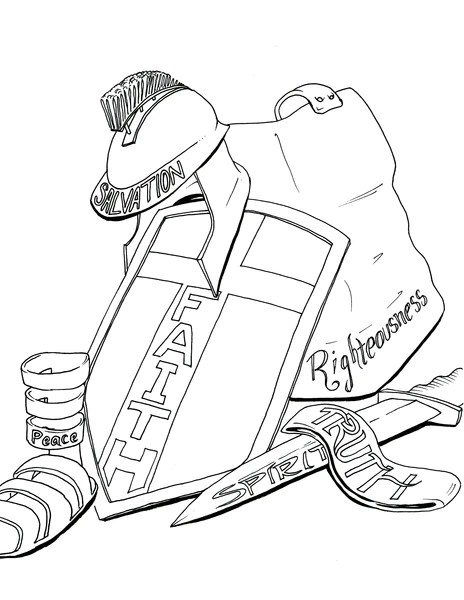 armor of god coloring page # 6