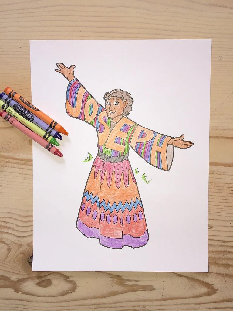 Joseph Coloring Page Children
