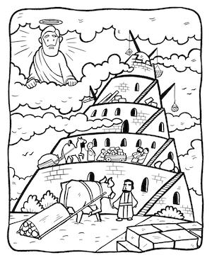 tower of babel coloring pages # 2