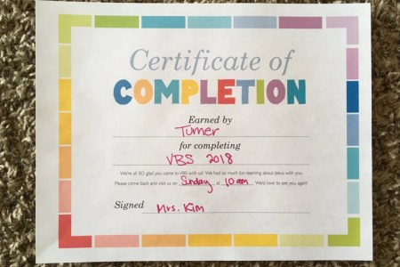 FREE VBS Certificate of Completion     Children s Ministry Deals VBS Certificate of Completion