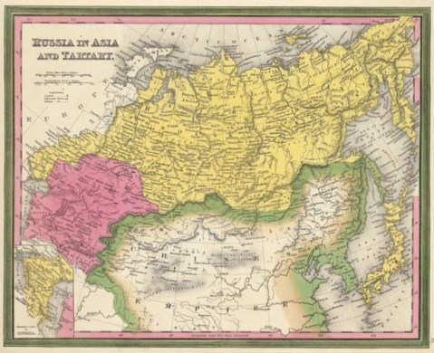 Map of Russia in Asia and Tartary  1850  Mitchell and Cowperthwait     Map of Russia in Asia and Tartary  1850  Mitchell and Cowperthwait