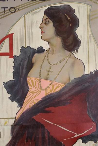 Marcello Dudovich Fedora Circa 1899 Colletti Gallery