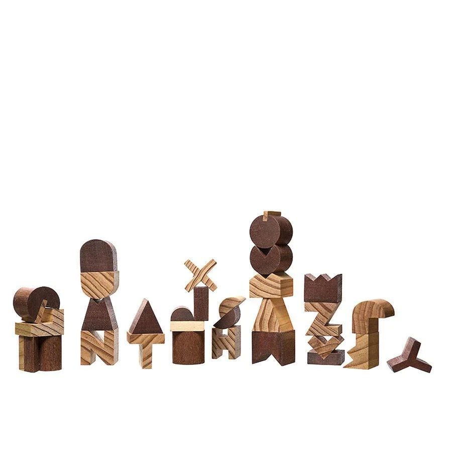 Cubebot Wooden Robot