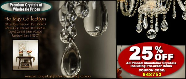 crystal chandelier drops # 38