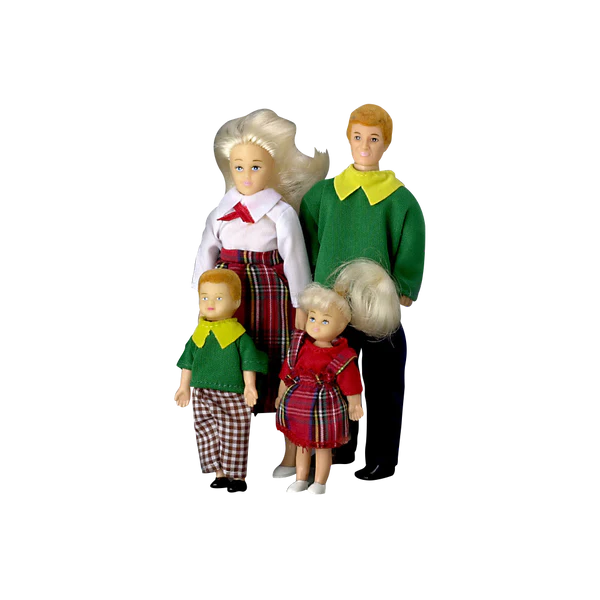 Miniature Dolls     Real Good Toys 1 Inch Scale Modern Dollhouse Family Blonde