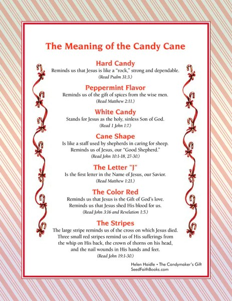 Meaning of the Candy Cane - PDF | Seed Faith Books
