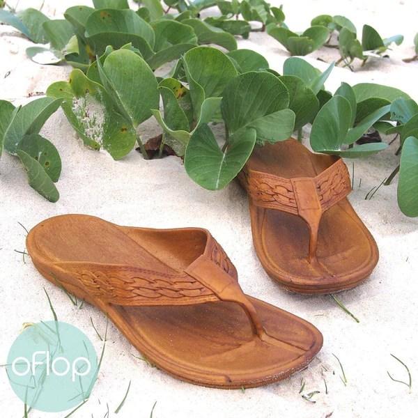Print Hawaiian Flip Flops