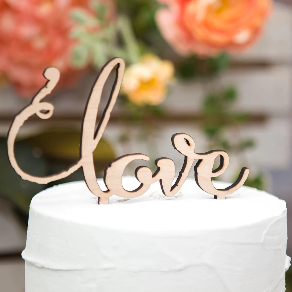 Wedding Cake Topper Rustic Wooden  love      Z Create Design Wedding Cake Topper Rustic Wooden  love