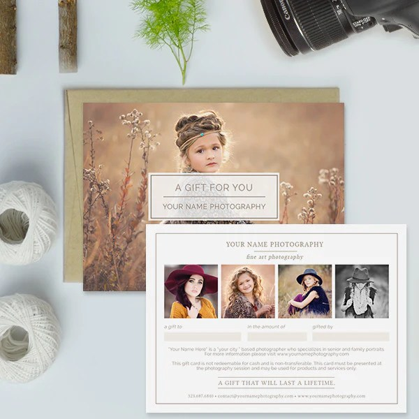Photography Studio Gift Certificate Template Gift Card Template     Photography Studio Gift Certificate Templates   A Gift For You