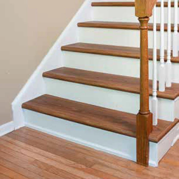 Shaw Vinyl Treadz White Stair Riser – The Good Guys | Hardwood Stairs With White Risers | Pine | Tread | Trim | Hardwood Flooring | Before And After