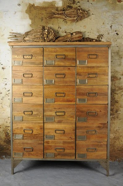 Vintage Industrial Apothecary Chest Shropshire Design