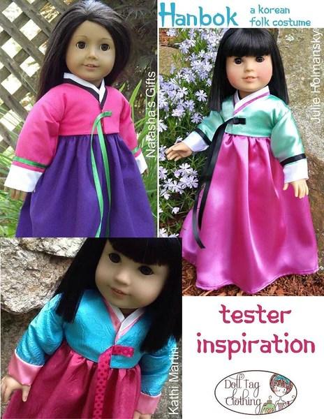 Doll Tag Clothing Korean Hanbok Doll Clothes Pattern 18