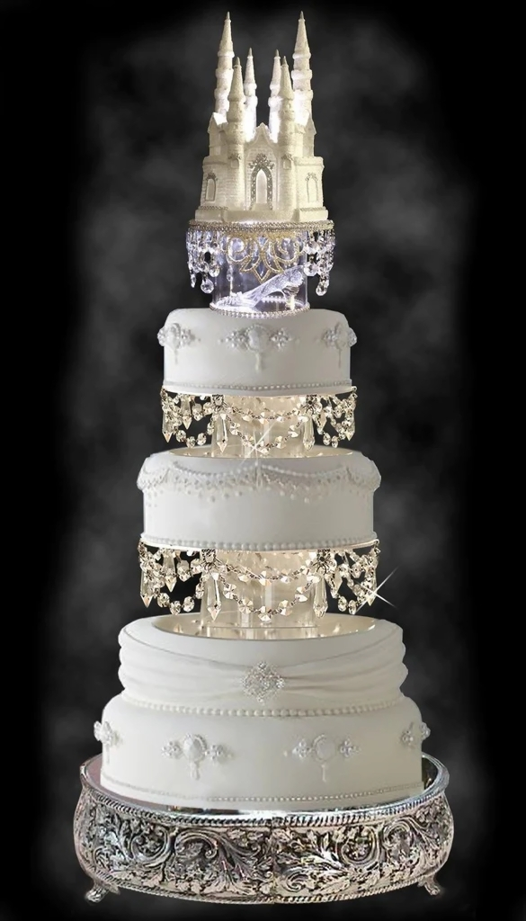 disney wedding cake  raquo  Disney Castle and the Glass Slipper Fairy Tale Wedding Cake     Candy     The Disney Castle and the Glass Slipper Fairy Tale Wedding Cake