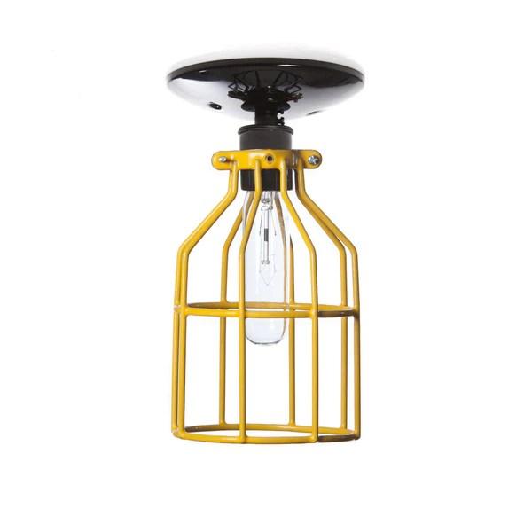 Yellow Industrial Pendant Light