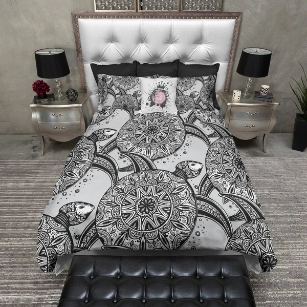 Tribal Sea Turtle Duvet Bedding Sets Ink And Rags