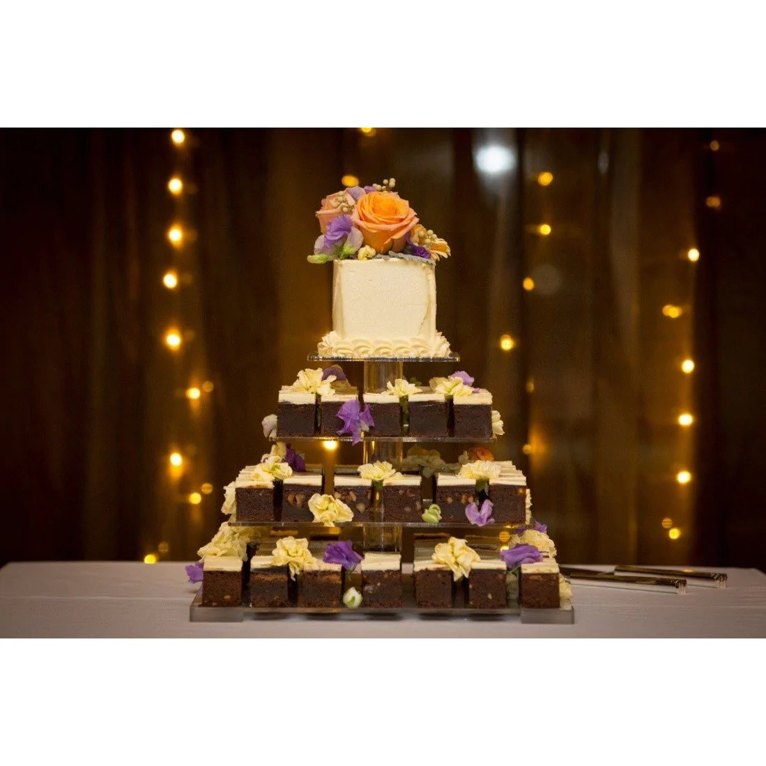 Tiered Brownie Wedding Cake     Tiered Brownie Cake   Dello Mano