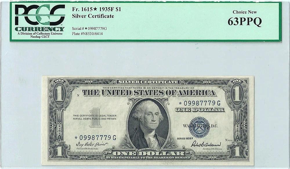 Silver Certificate 1935 G Dollar Bill Value